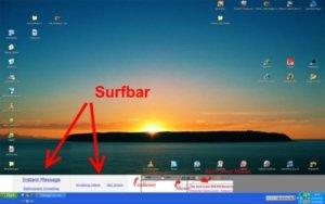 Další příklad surfbarů, které se zobrazují na pracovní ploše vašeho počítače.