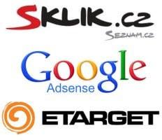 Reklamní společnosti fungující na principu PPC - Google Adsense, Sklik, Etarget.