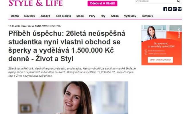 Příběh úspěchu - jak se z 26 roční prodavačky Jany Petrovej stala milionářka obchodováním binárních opcí na platformě Binatex.