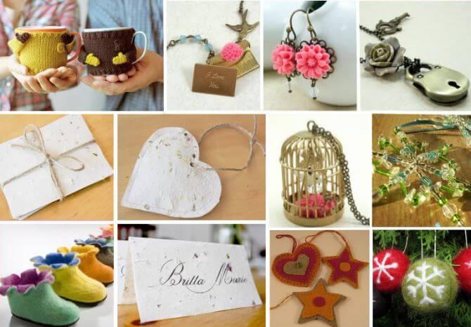 Názorná ukázka vlastnoručně vyrobených dekoračních předmětů.
