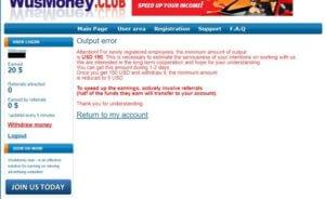 Při pokusu o vyplacení mi vypsalo error, nově registrovaní musí nasbírat 150 USD.