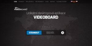 Jak vypadá úvodní stránka projektu Videoboard.net.
