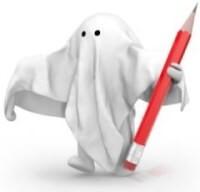 Ilustrační obrázek ghostwritera - ducha spisovatele.
