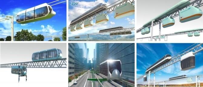 Skyway dopravní system budoucnosti - ovšem, zatím jen ve formě množství prezentačních videí a simulací.