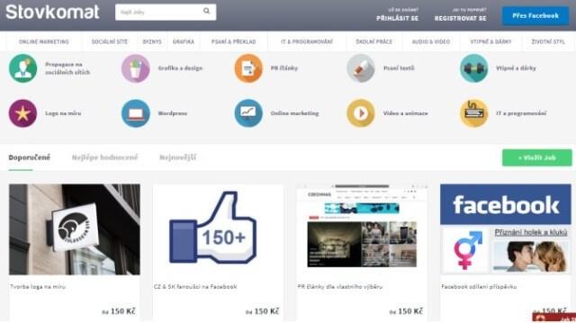 Online brigáda na doma s portálem Stovkomat.cz. Na obrázku jsou ukázky některých mikroslužeb.