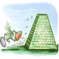 Ilustrační obrázek pyramidové hry.