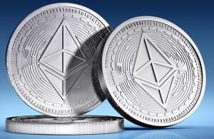 Logo alternativního coinu Ethereum.