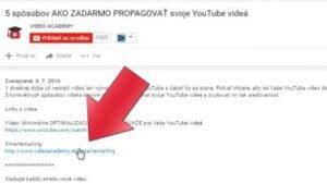 Affiliate odkaz na smartemailing nacházející se pod videem.