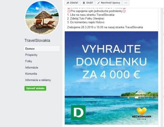 Vyhrajte dovolenou v hodnotě 4000 eur pro 4 osoby na Bali, na toto láká FB stránka TravelSlovakia.