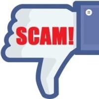 """Facebookové tlačítko """"unlike"""", které signalizuje, že jde o podvod, resp. scam."""