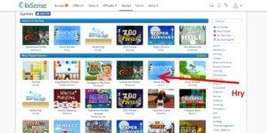 Na stránce je možné hrát i online hry, bohužel už ne za peníze.