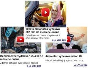 Na Facebooku se často zobrazují takovéto podvodné reklamy, které slibují zbohatnutí.