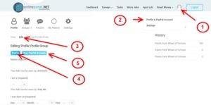 Názorná ukázka, jak si vyplnit profil a paypal účet.