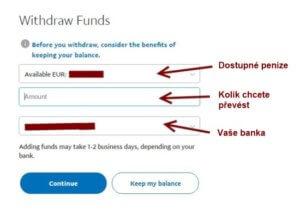 Jak si poslat (vybrat) peníze z Paypalu na bankovní účet.