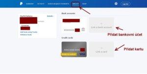 Jak si ověřit účet a jak přidat svou kreditní kartu či bankovní účet.