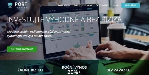 Stránka portinvest.cz nabízí možnost investovat výhodně a bez rizika.