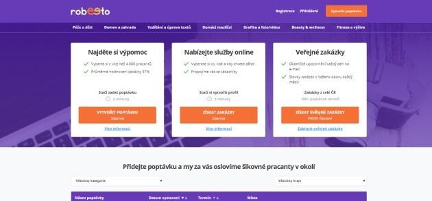 Vydělávání na internetu prostřednictvím portálu Robeeto, který je zaměřen na mikroslužby.