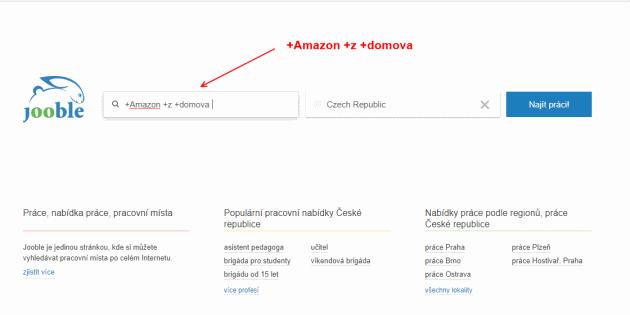 Jooble vyhledávač je užitečným pomocníkem, pokud chcete hledat nabídky práce z domu od Amazonu.