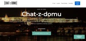 Úvodní stránka chat-z-domu.com, která nabízí online práci na zákaznické podpoře.