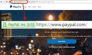 Skutečná stránka se šifrovaným HTTPS protokolem.