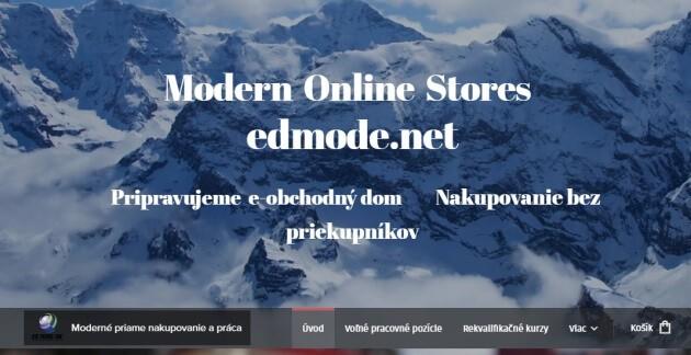 Úvodní stránka společnosti ED MODE IBC LLC, která má v provozu portál modernonlinestores.cz.