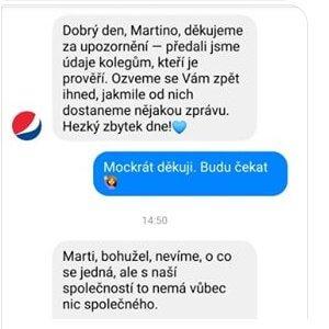 PepsiCo také nespolupracuje se společností.