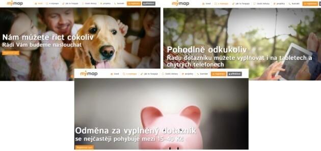 Úvodní stránka www.my-map.eu, kterou vlastní průzkumná agentura Kantar s.r.o .