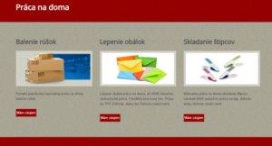 Homepage webu pracujem.sk.
