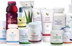 Produkty firmy Forever Living - výživové doplňky Aloe Vera, kosmetika atd.
