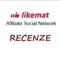 Logo portálu Likemat.com + nápis recenze.