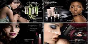 Kosmetické přípravky a parfémy společnosti Mary Kay.
