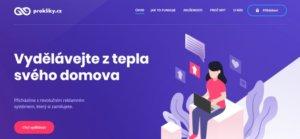 Úvodní stránka projektu prokliky.cz.
