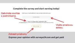 Jak se zaregistrovat na stránce - vložte emailovou adresu.