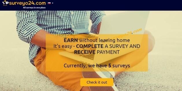 Úvodní stránka portálu Surveyo24.com.