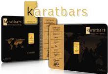 Prodej zlatých prutů a odlitků společností Karatbars.