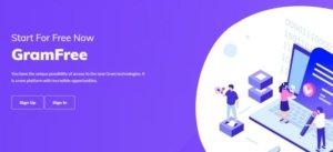 Úvodní stránka projektu Gramfree.world.