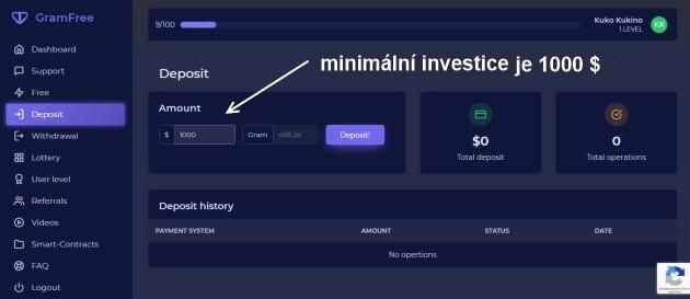 Gramy si můžete na stránce zakoupit za minimálně 1000 $.
