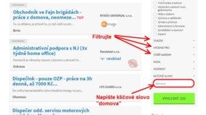 Jak selektovat inzeráty na pracovním portálu inwork.cz.