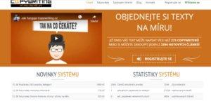 Copywriting portál nabízí psaní článků za peníze a také prodej reklamy.