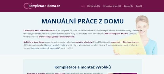 Úvodní stránka portálu kompletace-doma.cz