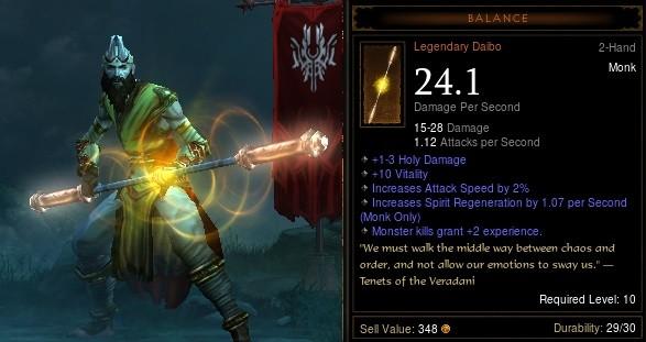 Legendární artefakt v Diablo 3, ten by se určitě dobře prodal.
