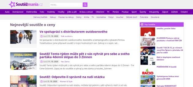 Na soutezmania.cz můžete soutěžit také o peníze a dárkové poukázky.