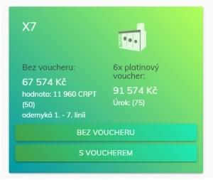 Na co všechno máte nárok při zakoupení balíčku X7? Jaká je návratnost?
