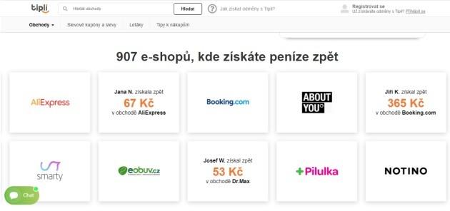 Seznam až 907 e-shopů, kde získáte peníze zpět.