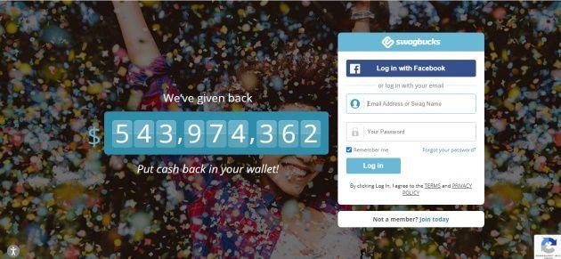 Swagbucks rozdal svým členům na odměnách již přes 500 milionů USD.