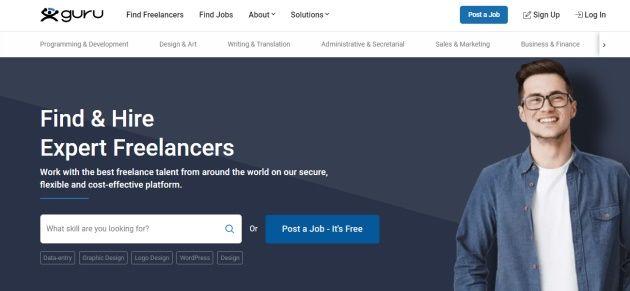 Guru portál je skvělá možnost pro freelancery.