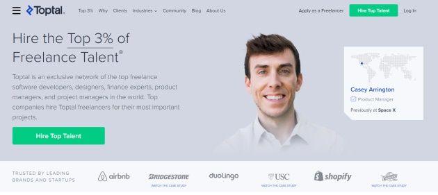 Jen 3% lidí vydělá na stránce Toptal.com.