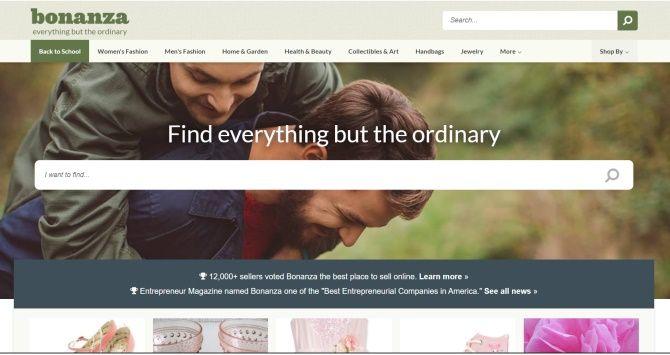 Na Bonanza.com můžete prodávat své homemade výrobky.