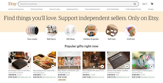 Etsy portál nabízí zajímavý výdělek pro prodejce.