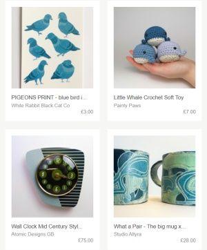 Pár ukázek, jak vypadá tvorba na webu Folksy.com.